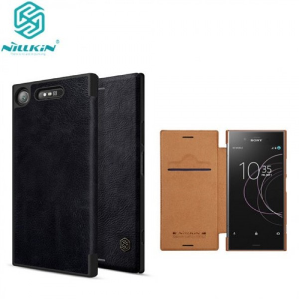 کیف چرمی نیلکین سونی Sony Xperia XZ1 Nillkin Qin Leather Case