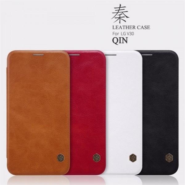 کیف چرمی نیلکین ال جی LG V30 Nillkin Qin Leather Case