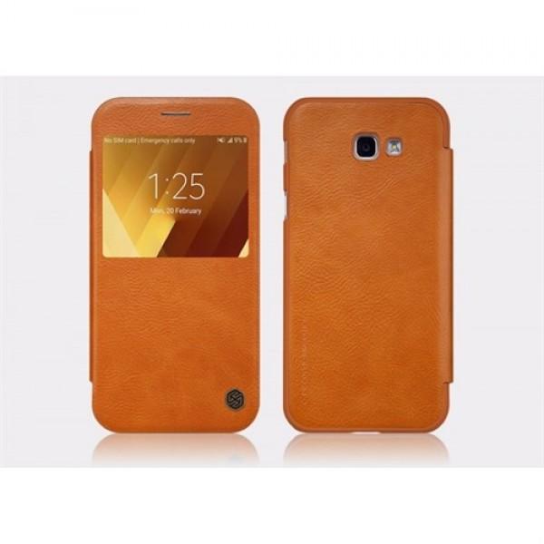 کیف چرمی هوشمند نیلکین سامسونگ Samsung Galaxy A3 2017 A320F Nillkin Qin