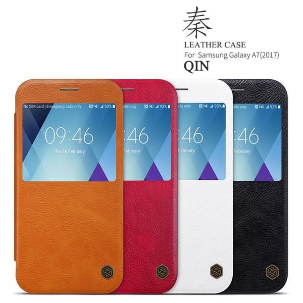 کیف چرمی هوشمند نیلکین سامسونگ Samsung Galaxy A5 2017 A520F Nillkin Qin