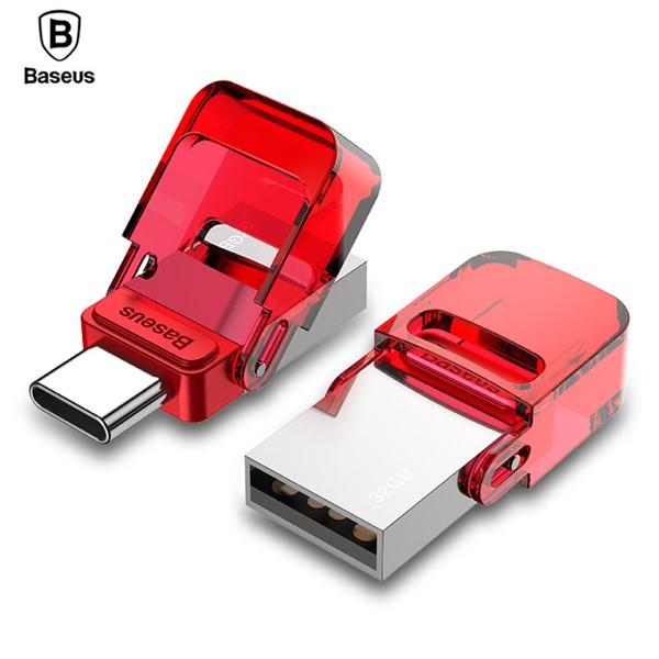 فلش مموری تایپ سی 32 گیگابایت بیسوس Baseus Red-hat Type c USB