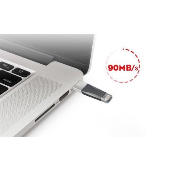 فلش مموری 128 گیگابایت لایتنینگ آیفون سن دیسک Sandisk iXPAND Mini Lightning and USB3.0