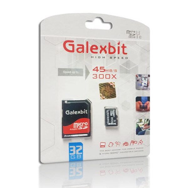 کارت حافظه میکرو اس دی 32 گیگابایت Galexbit 300x UHS-l U1