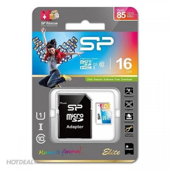 کارت حافظه میکرو اس دی 16 گیگابایت Silicon Power Color Elite UHC-I U1 85MBps
