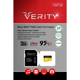 کارت حافظه میکرو اس دی 32 گیگابایت Verity 95MBps 633X UHS-l U1