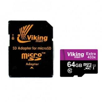 کارت حافظه میکرو اس دی 64 گیگابایت VikingMan Extra 433x UHS-l U1