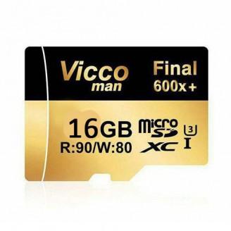 کارت حافظه میکرو اس دی 16 گیگابایت ViccoMan Final 600x Plus UHS-l U3