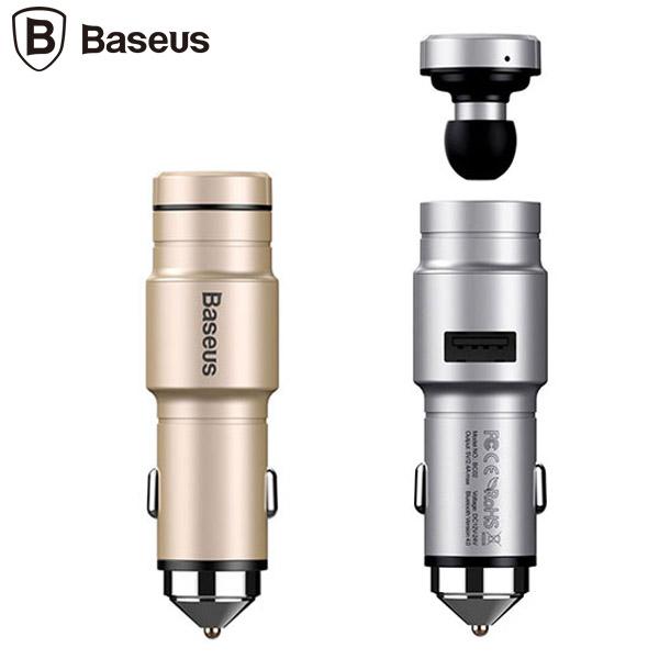 هندزفری بلوتوث و شارژر فندکی بیسوس مدل Baseus BC02