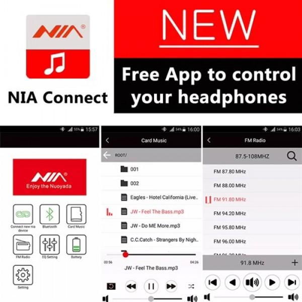 هدفون بلوتوث نیا NIA X3 New با اپلیکیشن