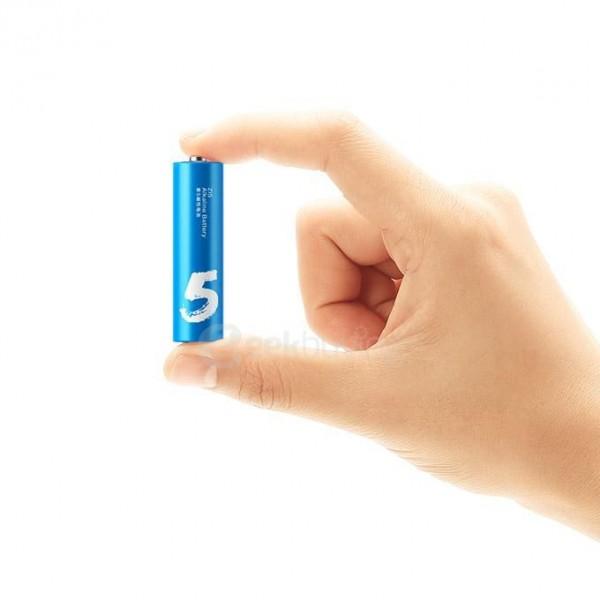 باتری رنگین کمانی قلمی شیائومی مدل ZI5 Alkaline AA - گارانتی 18 ماهه