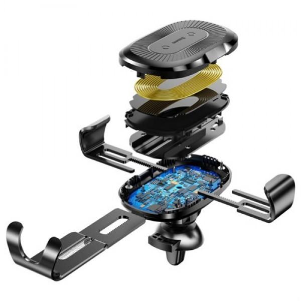 پایه نگهدارنده و شارژر وایرلس داخل خودرو بیسوس Baseus Heukji Wireless Charger Gravity WXZT-01