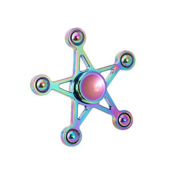 اسپینر فلزی طرح ستاره رنگین کمانی Fidget Spinner Star Metal Rainbow