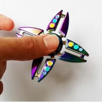 اسپینر فلزی طرح ستاره رنگین کمانی Fidget Spinner Star Rainbow