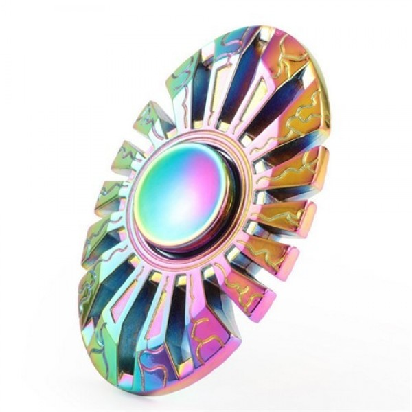 اسپینر فلزی طرح سپر رنگین کمانی Fidget Spinner Shield Rainbow