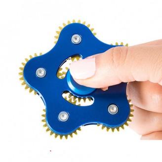 اسپینر چرخ دنده ای 5 پره فلزی Fidget Spinner Metal Gear