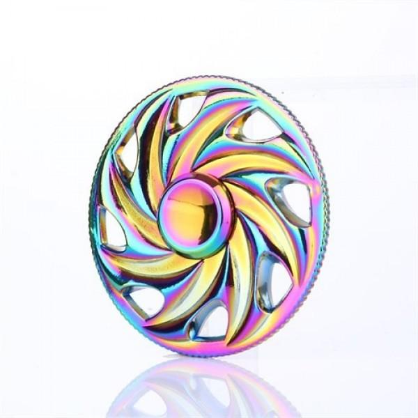 اسپینر فلزی چرخ رنگین کمانی Fidget Spinner Metal Rainbow Wheel