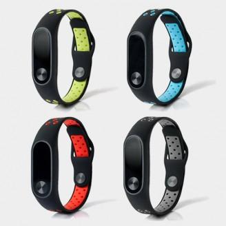 بند سیلیکونی طرح نایکی دستبند سلامتی شیائومی Mi Band 2 Ventilate Nike
