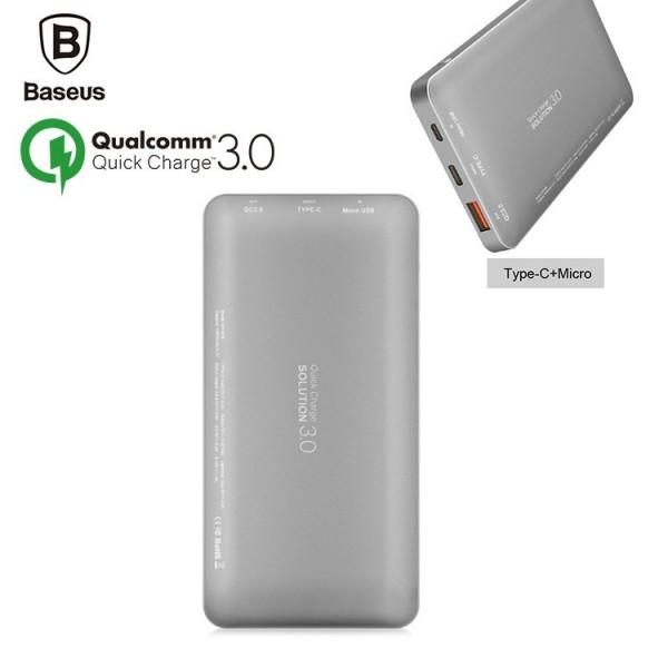 پاوربانک 10000 میلی آمپر شارژ سریع بیسوس Baseus Quick Charge 3.0 با پورت میکرو