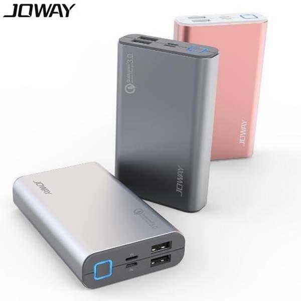 پاوربانک 10050 میلی آمپر فست شارژ جووی Joway JP90 Qualcomm 3.0