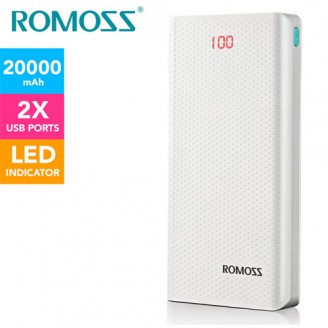 پاوربانک 20000 میلی آمپر روموس Romoss Sense 6 LED PH80