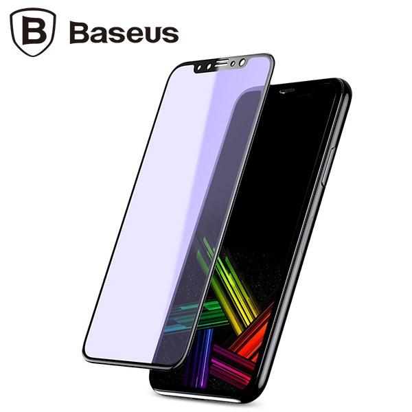 محافظ صفحه نمایش شیشه ای بیسوس آیفون Baseus Silk-screen Anti-blue Apple iPhone X