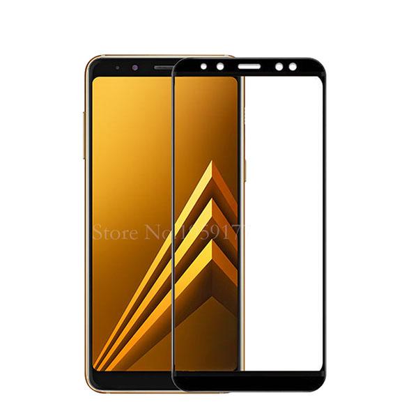 محافظ صفحه نمایش شیشه ای تمام صفحه و خمیده مارک رمو مناسب Samsung Galaxy A8 2018