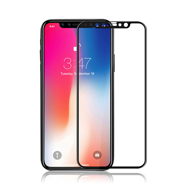 محافظ صفحه نمایش شیشه ای تمام صفحه تمام چسب Apple iPhone X مارک رمو