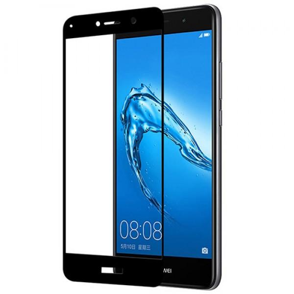 محافظ صفحه نمایش شیشه ای تمام صفحه تمام چسب Huawei Y7 Prime