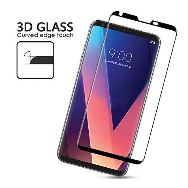 محافظ صفحه نمایش شیشه ای تمام صفحه و خمیده مناسب LG V30