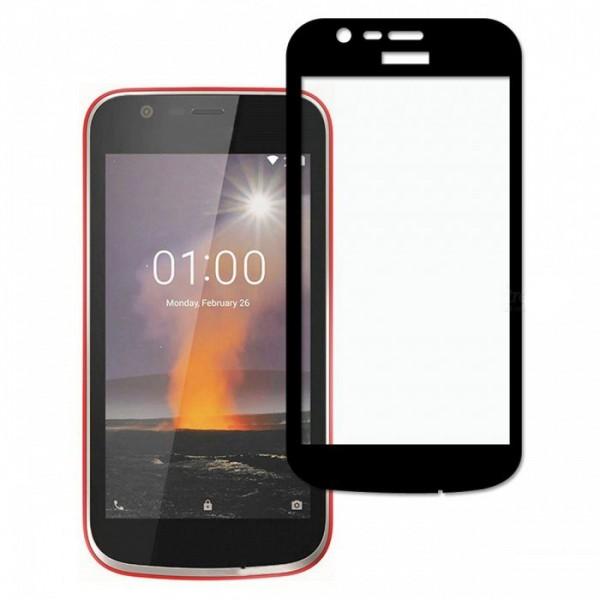 محافظ صفحه شیشه ای تمام صفحه تمام چسب Nokia 1