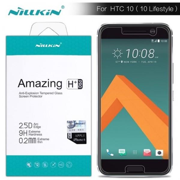 محافظ صفحه نمایش شیشه ای نیلکین H+ Pro Glass HTC 10 LifeStyle