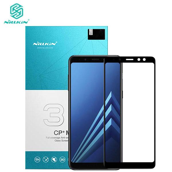 محافظ صفحه نمایش شیشه ای تمام صفحه تمام چسب نیلکین Samsung Galaxy A8 Plus Nillkin 3D CP+Max