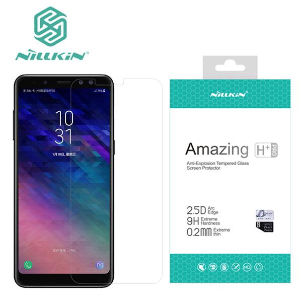 محافظ صفحه نمایش شیشه ای نیلکین H+ Pro Samsung Galaxy A8 Plus 2018