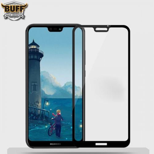 محافظ صفحه نمایش شیشه ای تمام صفحه و خمیده مارک بوف تمام چسب مناسب Huawei P20 Lite / Nova 3e