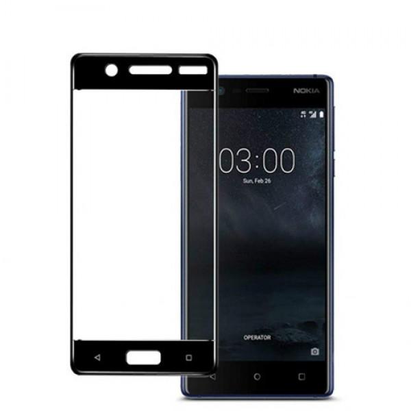 محافظ صفحه نمایش شیشه ای تمام صفحه و خمیده مارک رمو تمام چسب مناسب Nokia 5