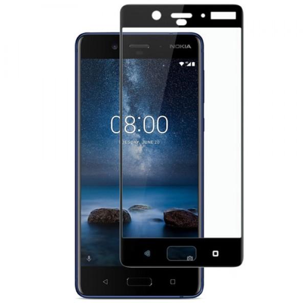 محافظ صفحه نمایش شیشه ای تمام صفحه و خمیده مارک رمو مناسب Nokia 8
