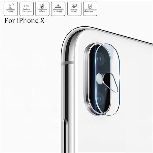 محافظ لنز دوربین شیشه ای موبایل مناسب Apple iPhone X