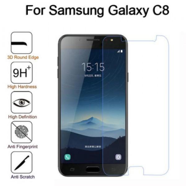 محافظ صفحه نمایش شیشه ای سامسونگ Samsung Galaxy C8/J7 Plus