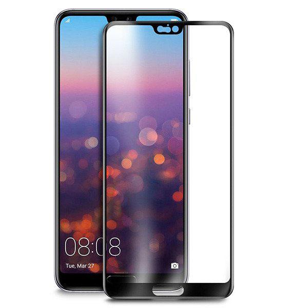 محافظ صفحه نمایش شیشه ای تمام صفحه و خمیده مارک تسلا تمام چسب مناسب Huawei P20