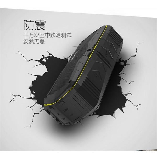 اسپیکر بلوتوث ضدآب و پاوربانک W-King S9