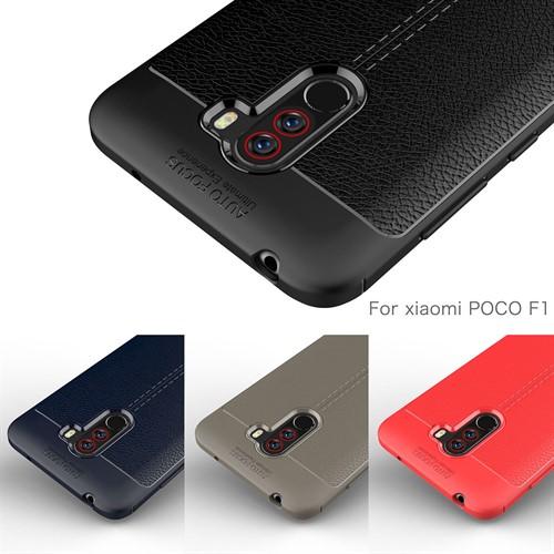 قاب محافظ طرح چرم Xiaomi Pocophone F1 / Poco F1 Auto Focus Jelly Case