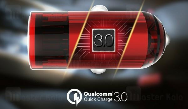 شارژر فندکی EMY MY-118Q Qualcomm 3.0 Fast Car Charger