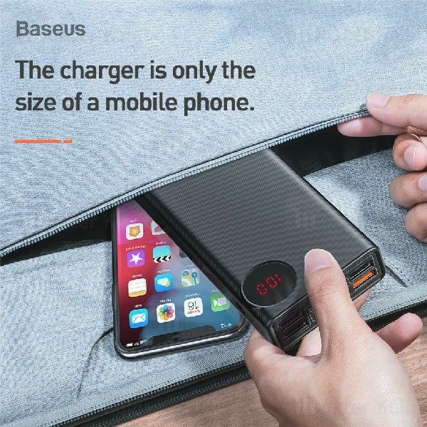 پاوربانک بیسوس Baseus Mulight 30000mAh PPMY-01 3 inputs 5 Output QC3 PD