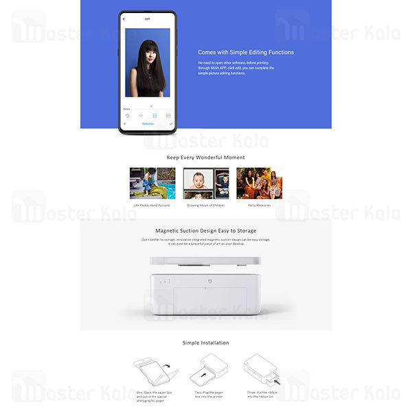 پرینتر موبایل Xiaomi Mijia Mi Wireless Photo Printer 6 inch Desktop Color Photo Printer