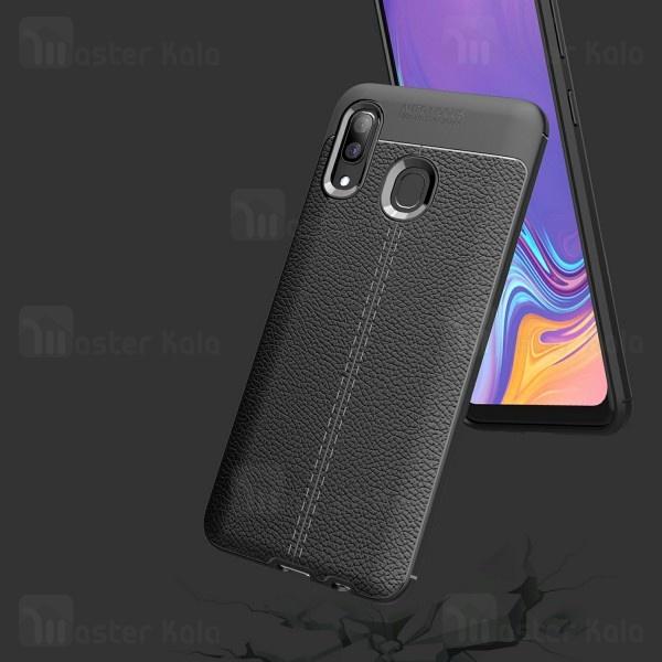 قاب طرح چرم Samsung Galaxy A40 / A405 Auto Focus Jelly Case