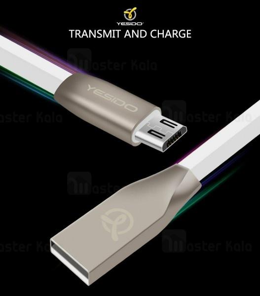 کابل اندرویدی Yesido CA01 Data Cable 2.4A 1.2m