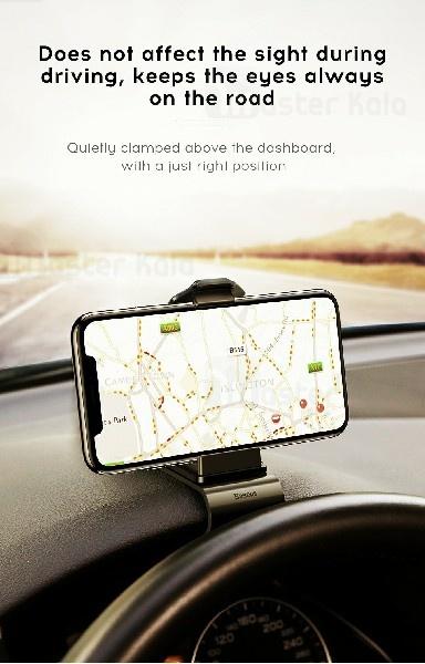 هولدر موبایل یسیدو Baseus Mouth Car Mount Holder Dashboard